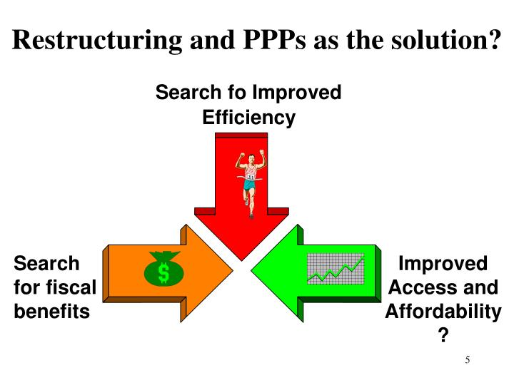 Restructuring and PPPs as the solution?