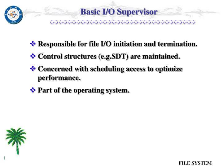 Basic I/O Supervisor