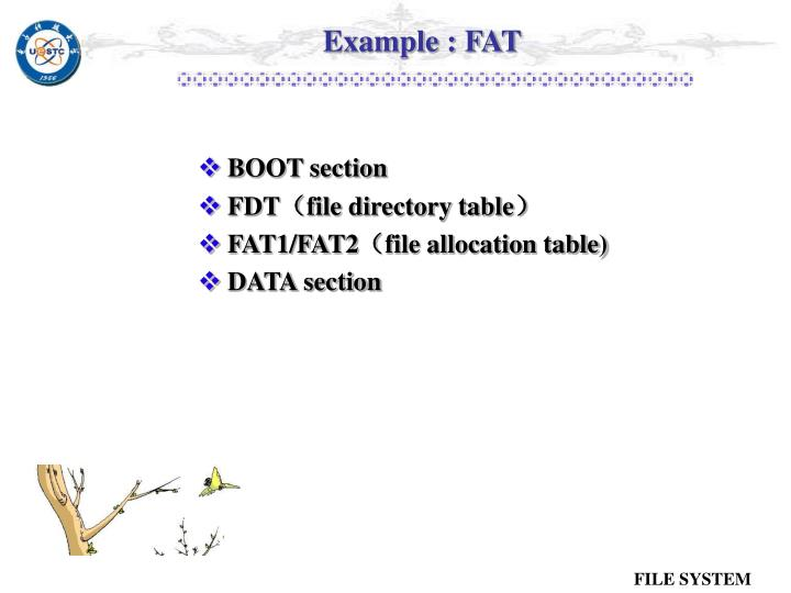 Example : FAT