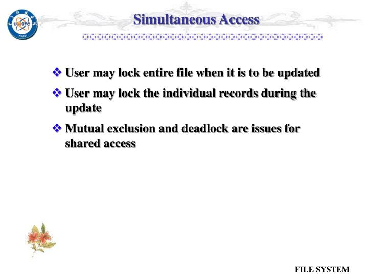 Simultaneous Access