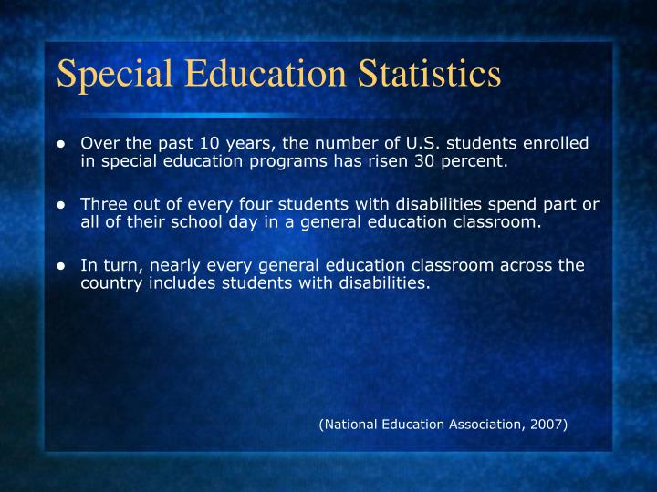 Special Education Statistics