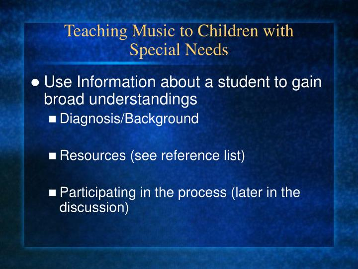 Teaching Music to Children with