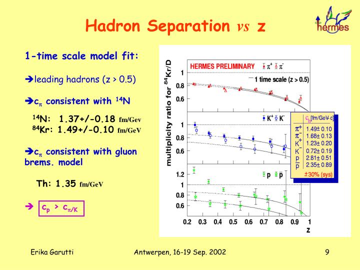 Hadron Separation