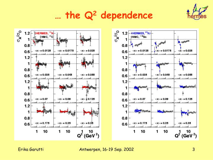 The q 2 dependence