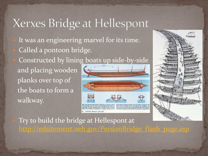 Xerxes Bridge at Hellespont