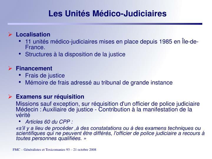 Les Unités Médico-Judiciaires