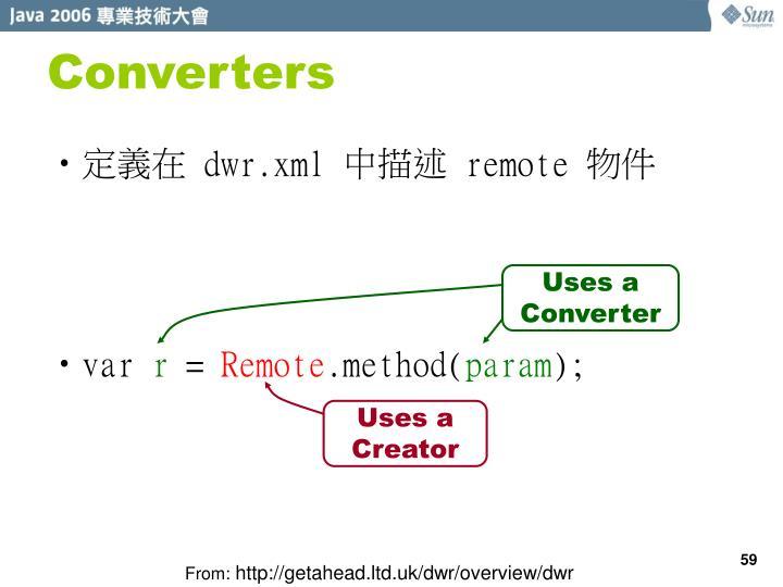 Converters