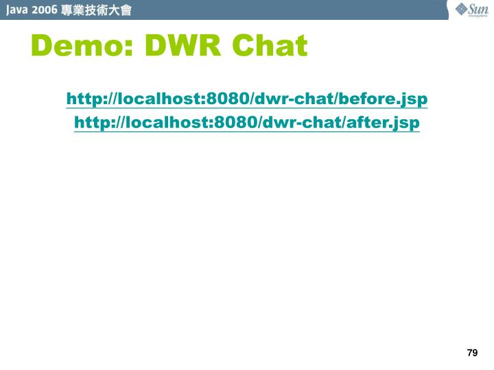 Demo: DWR Chat