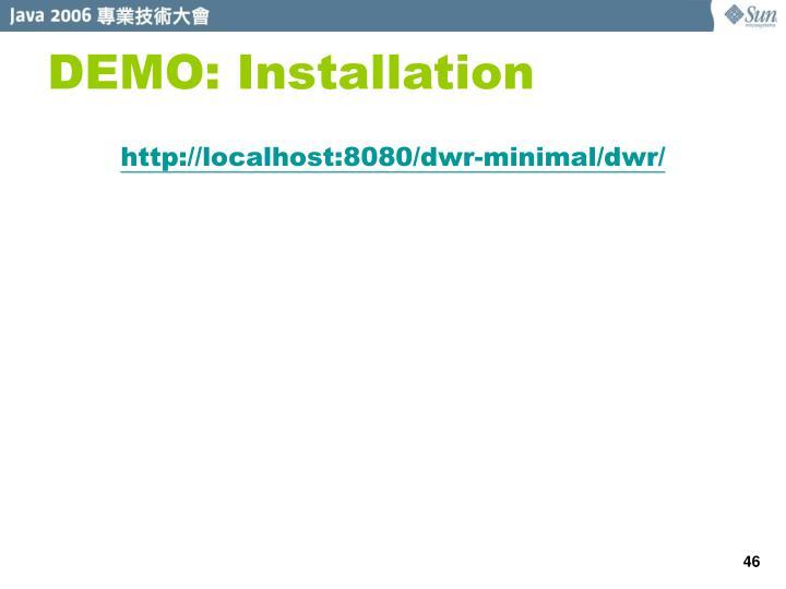 DEMO: Installation