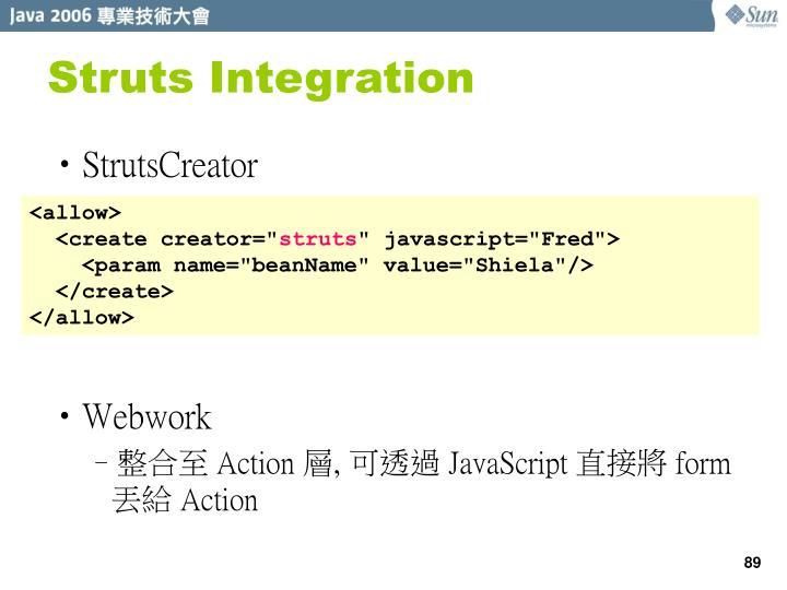 Struts Integration