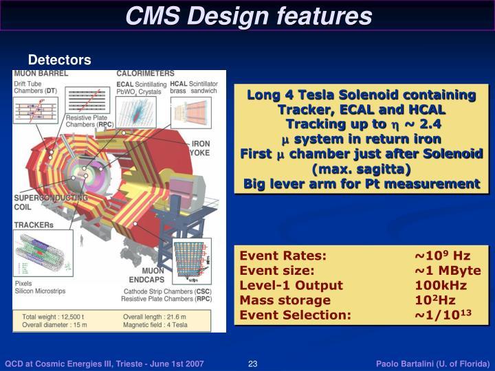 CMS Design features