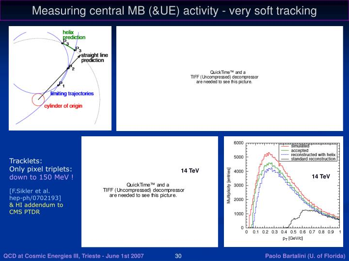 Measuring central MB (&UE) activity - very soft tracking