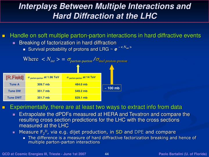 Interplays Between Multiple Interactions and