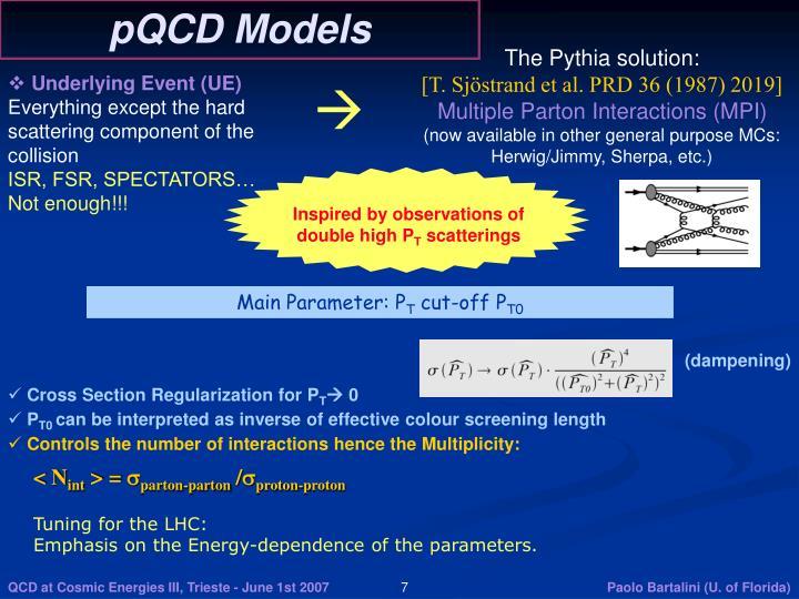 pQCD Models