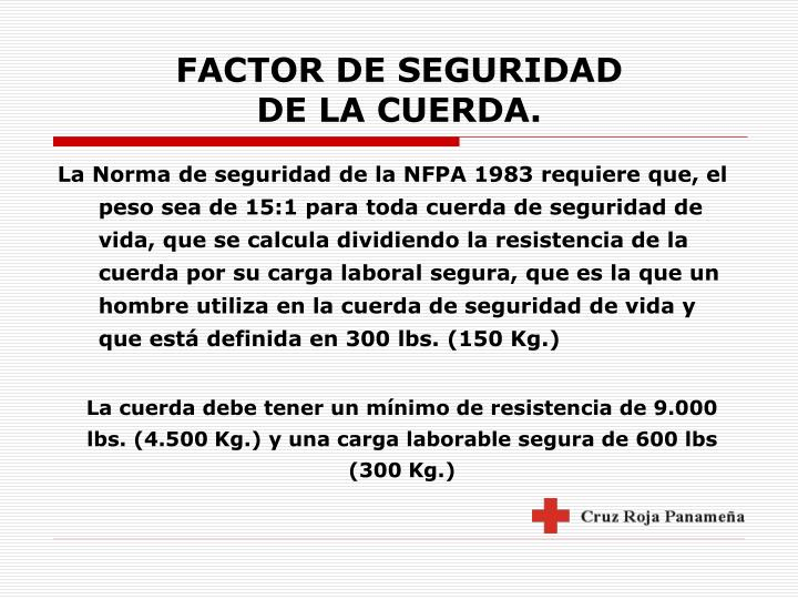FACTOR DE SEGURIDAD