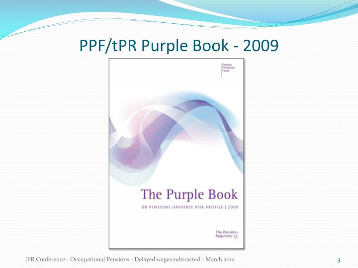Ppf tpr purple book 2009