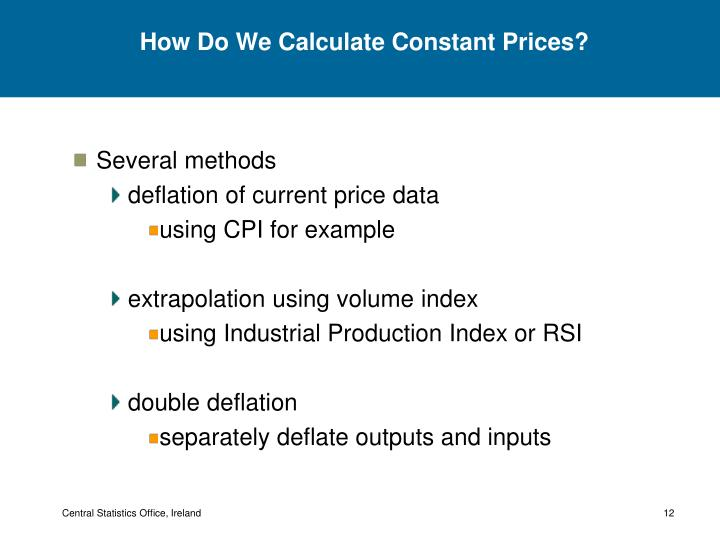 How Do We Calculate Constant Prices?