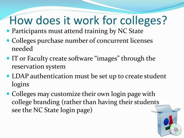 How does it work for colleges?