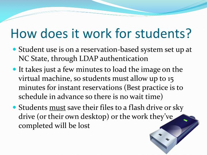 How does it work for students?