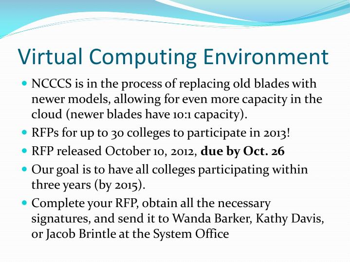 Virtual Computing Environment