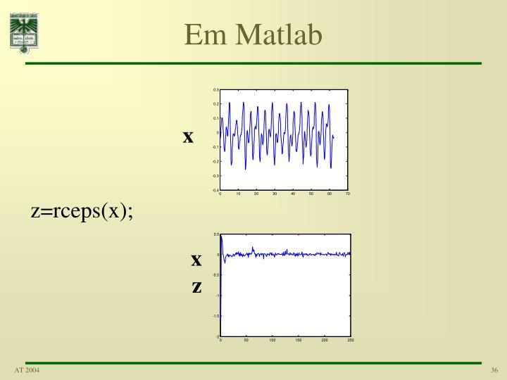 Em Matlab