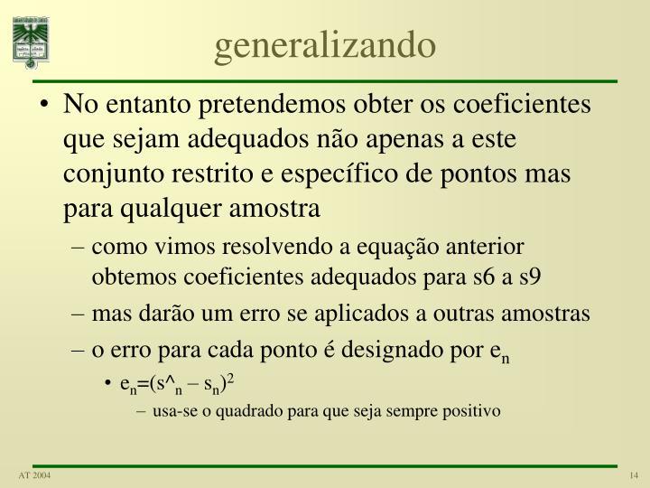generalizando