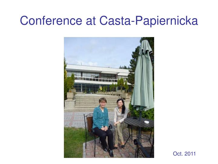 Conference at Casta-Papiernicka