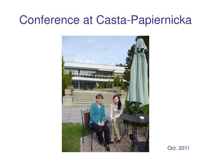 Conference at Casta-Papiernicka