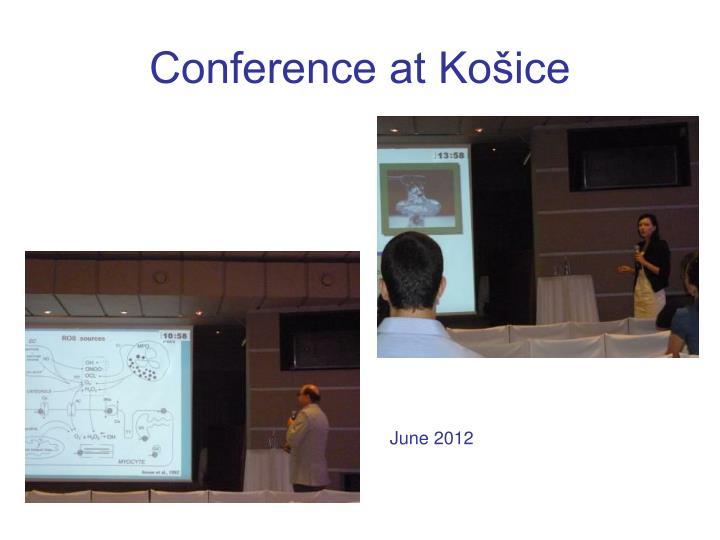Conference at Košice
