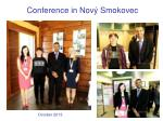 conference in nov smokovec