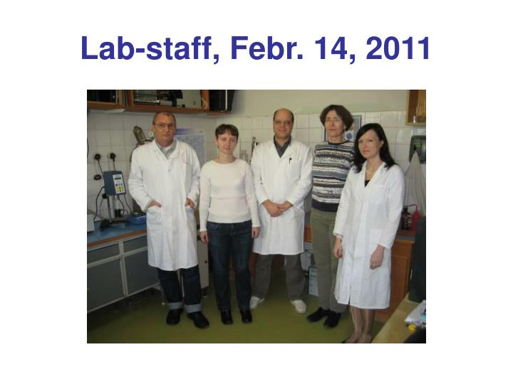 lab staff febr 14 2011