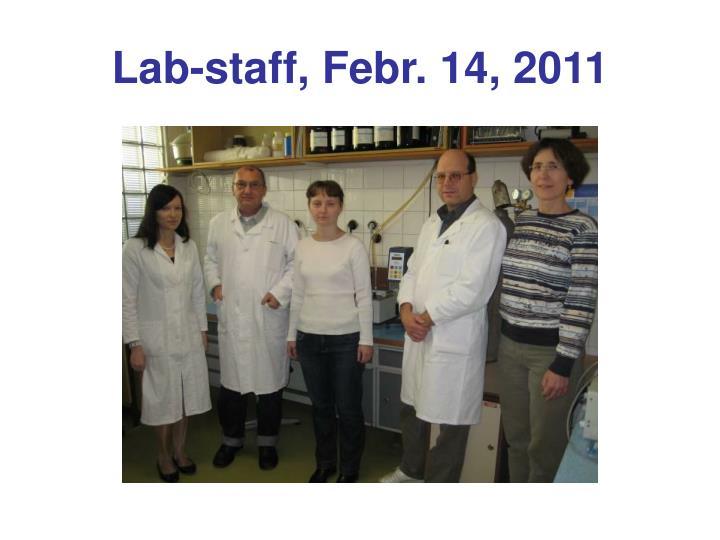 Lab-staff, Febr. 14, 2011