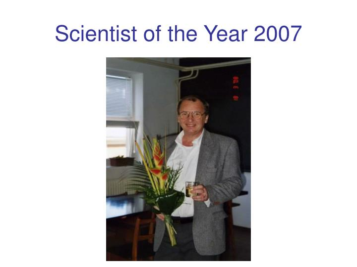 Scientist of the Year 2007