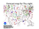 forecast map for thu night