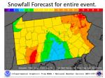 snowfall forecast for entire event