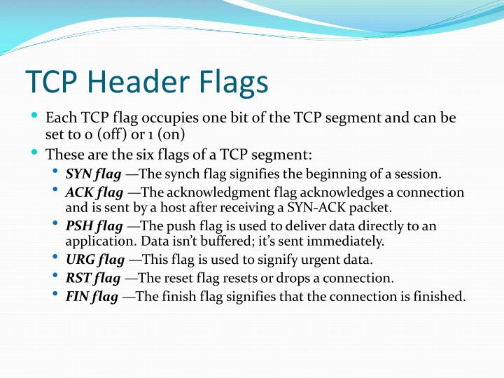 TCP Header Flags