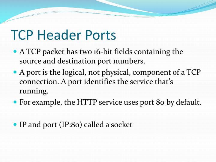 TCP Header Ports