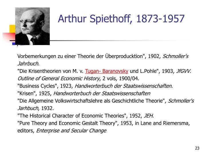 Arthur Spiethoff, 1873-1957