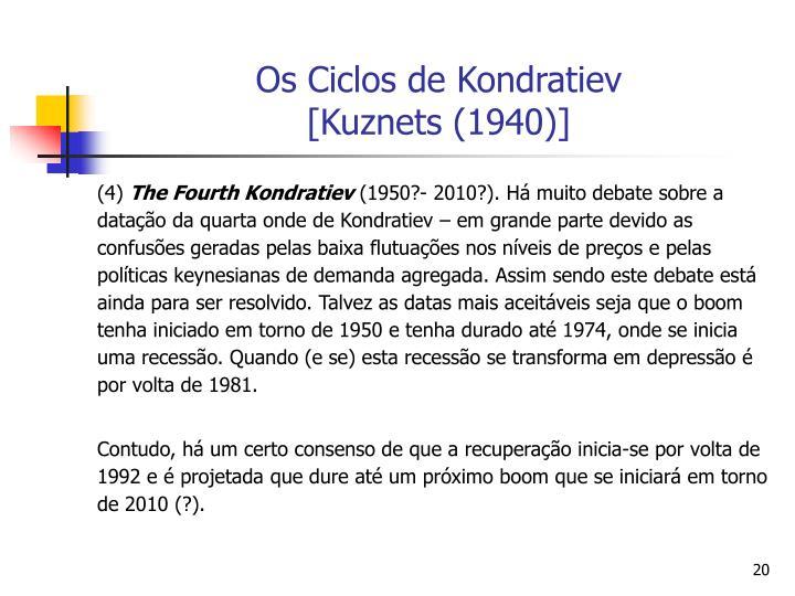 Os Ciclos de Kondratiev