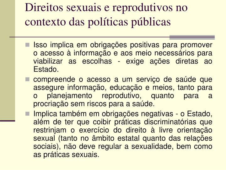 Direitos sexuais e reprodutivos no