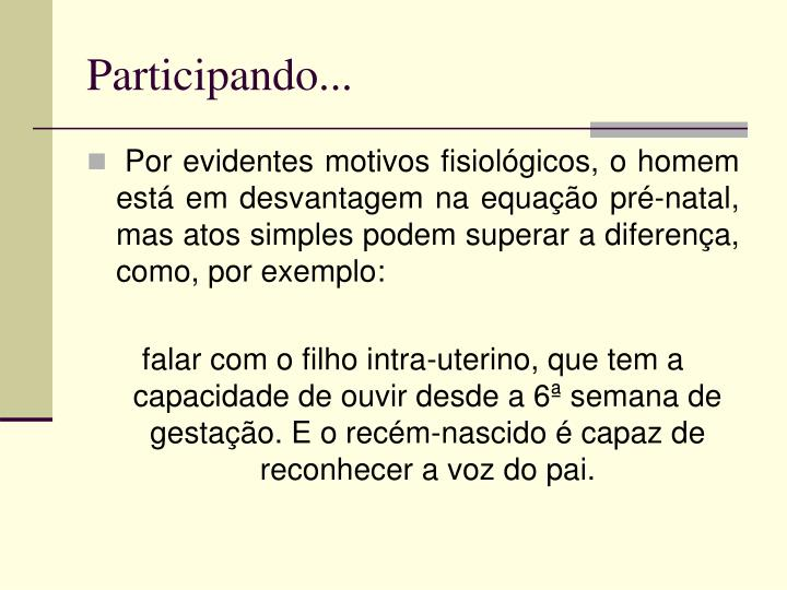 Participando...