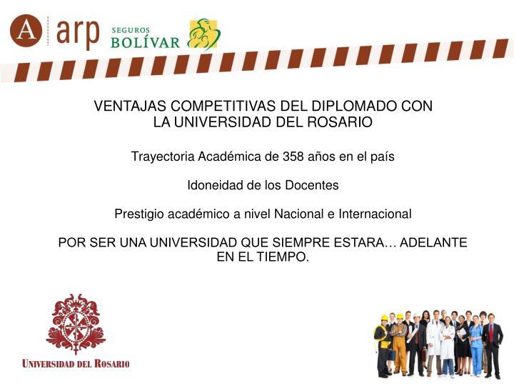 VENTAJAS COMPETITIVAS DEL DIPLOMADO CON