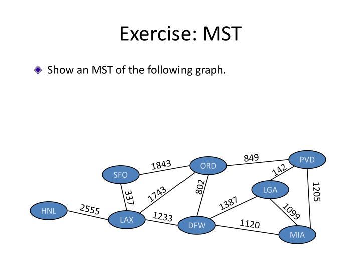 Exercise: MST