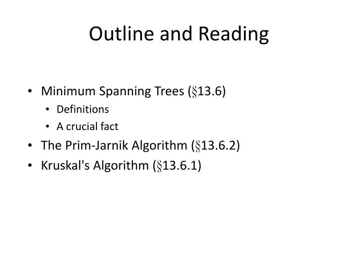 Outline and Reading