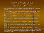 general facts about the mormon trail1