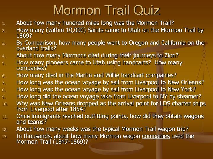 Mormon Trail Quiz