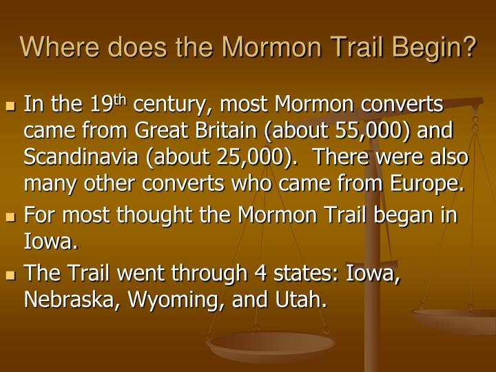 Where does the Mormon Trail Begin?