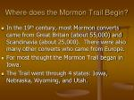 where does the mormon trail begin
