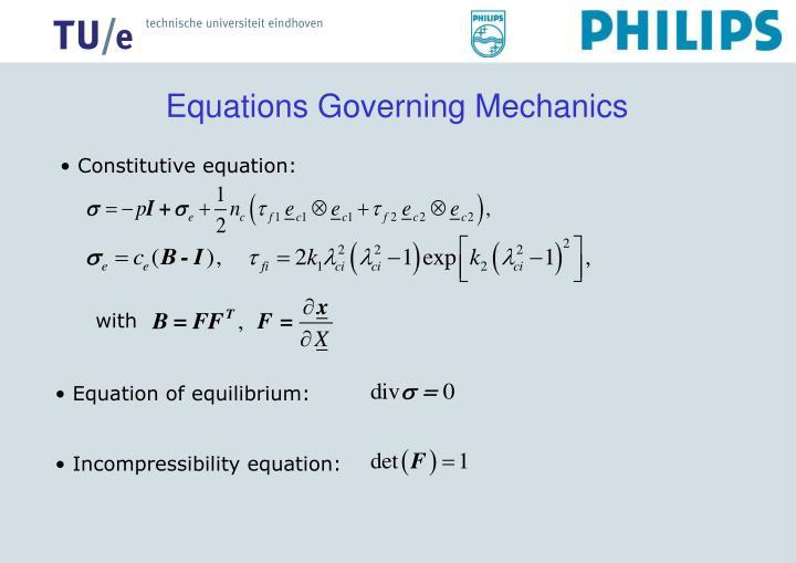 Equations Governing Mechanics