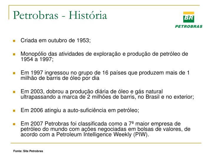 Petrobras - História
